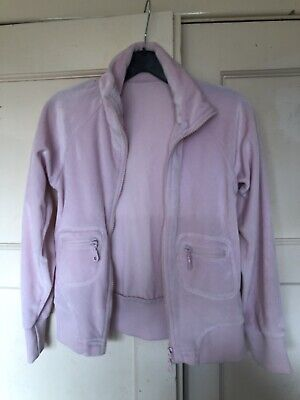 Girls Velour Baby Pink Top Age 9-10