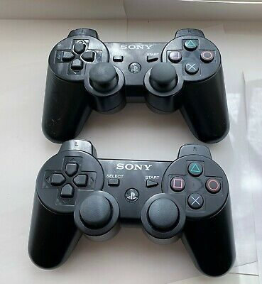 2x Official Sony PS3 DualShock Wireless Controllers / Playstation 3