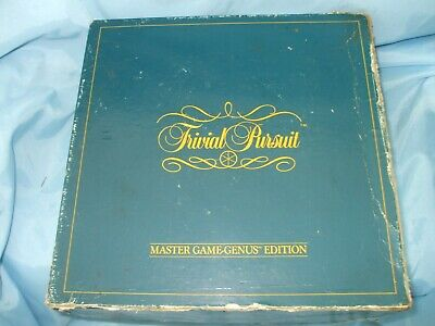 Vintage 1983 Trivial Pursuit Master Game Genus Edition Board Game