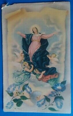 Estampa RELIGIOSA ANTIGUA LA ASUNCION DE LA VIRGEN Holy card