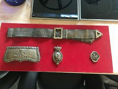 9th Lancer Full Dress officers Cross Belt and Pouch in wall display box