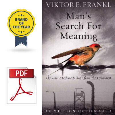 Man's Search for Meaning by Viktor E. Frankl [P.D.F] Instant Delivery 30s 🔥⚡
