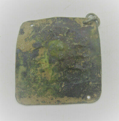 European Finds Ancient Roman Bronze Pendant With Impression 200-300Ad