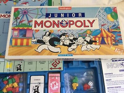 Monopoly Junior Kids Family Board Game By Waddingtons Ages 5-8, Complete #32