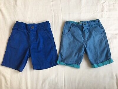 2 x Boys Shorts Aged 5 Yrs - Baker & Mothercare