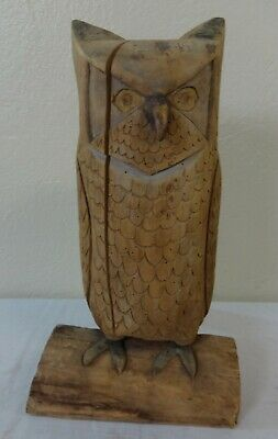 Antique Folk Art Carved Wood Figure of an Owl Prob. Penna.