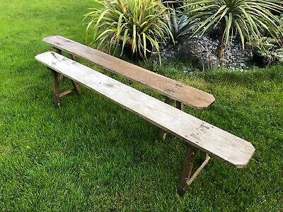 antique French plank bench seat, rustic farmhouse bench, hallway seat, vintage