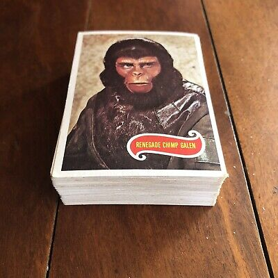 1967 SCANLENS PLANET OF THE APES Near Complete Set 65/66 RARE Scanlen's Cards