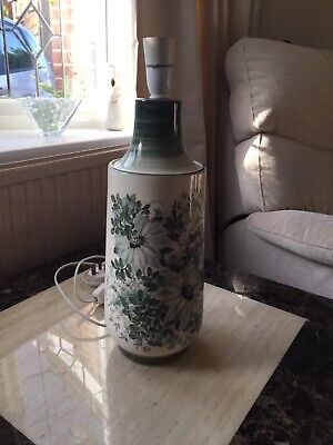 Jersey Pottery Large Cream And Green Table Lamp