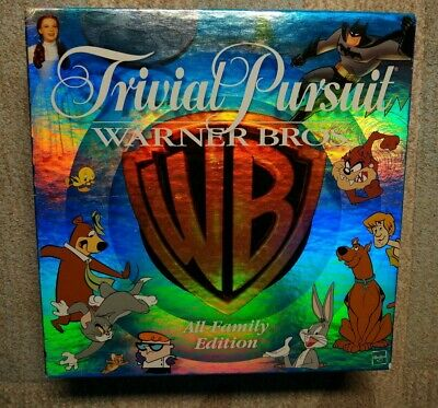 Trivial Pursuit Warner Bros All-Family Edition Game Parker Brothers Hasbro