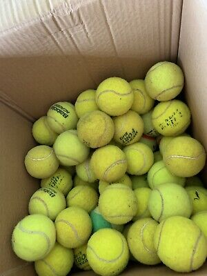 10 used tennis balls - Good For Recreational Play & Dogs. Passed the court days.