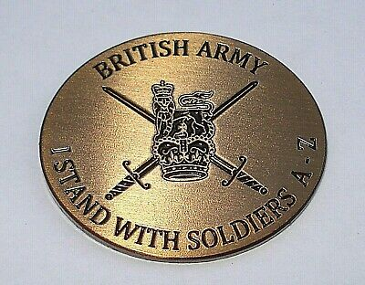 I stand with Soldier F Parachute Regiment British Army 38mm Button badge