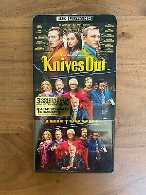 Knives Out (4K Ultra HD Blu-ray Disk + Slipcover) No Digital! Disk Never Viewed!