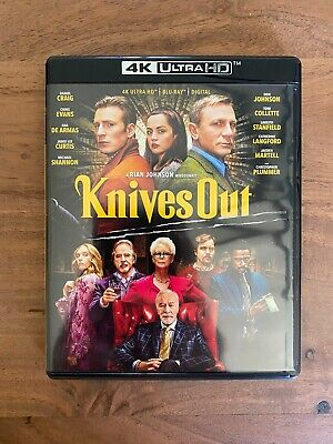 Knives Out (4K Ultra HD Blu-ray Disk Only) No Digital! Disk Never Viewed! Read!