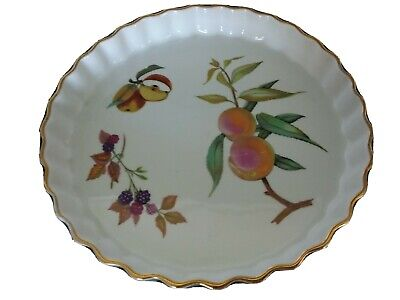 Royal Worcester Evesham Fluted Flan Dish 10 Inches