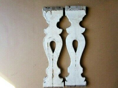 2  Antique Architectural Salvage Wood Porch Balusters..Corbels  Gingerbread