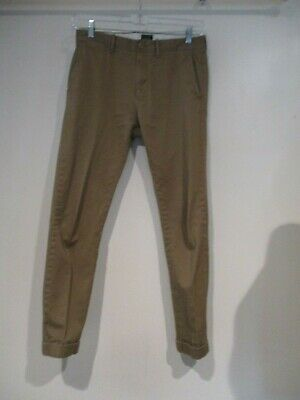 J CREW 484 light brown mens stretch pants sz 30