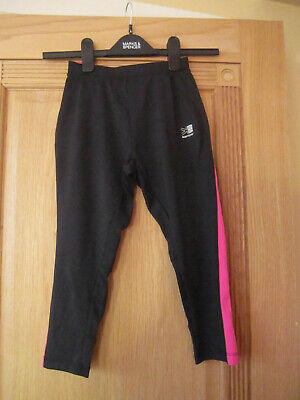 Karrimor Black & Pink Details 3/4 Running Joggers Vgc Size 11-12 Years