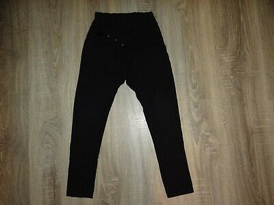 Girls QBA black joggers/ harem pants/ loose tracksuit bottoms 122cm  6-7 years