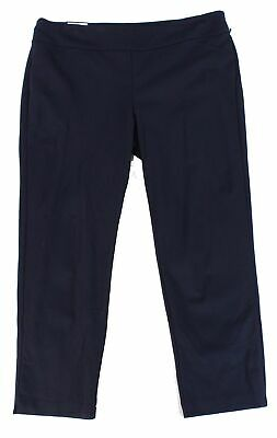 Charter Club Womens Pants Navy Blue Size 26W Plus Slim-Leg Stretch $69- 208