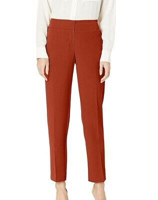 Kasper Womens Pants Spice Red Size 12 Slim Ankle Leg Crepe Stretch $79 453