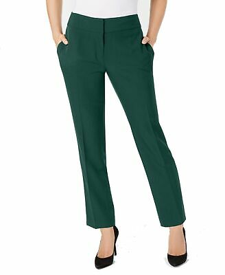 Kasper Womens Pants Green Size 2P Petite Dress Slim Fit Crepe Stretch $79 458