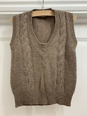 Margaret howell 100% Cashmere Fawn Cable Vest Age 2y