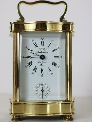 SUPERB ALARM CARRIAGE CLOCK by L'EPEE of FRANCE good working order SERVICED
