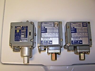 Square D Class 9012 Pressure Switch Lot Acw-5 & 2 Gaw-6