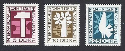 East Germany; Human Rights Year; complete unmounted mint (MNH) set