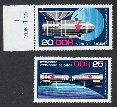 East Germany; Soviet Space Achievements; complete unmounted mint (MNH) set