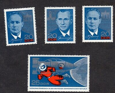 East Germany; Visit of Soviet Cosmonauts; complete unmounted mint (MNH) set