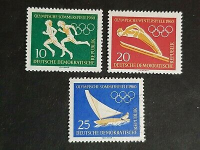 East Germany: Olympic Games, 1960; incomplete unmounted mint / used set