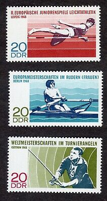 East Germany; Sporting Events; complete unmounted mint (MNH) set