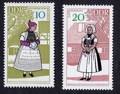 East Germany; Provincial Costumes (3rd); incomplete unmounted mint (MNH) set