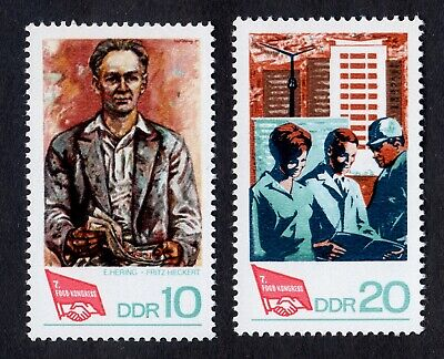 East Germany; Free Trade Unions Congress; complete unmounted mint (MNH) set