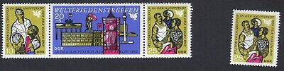 East Germany; International Peace Meeting; unmounted mint (MNH) strip +1