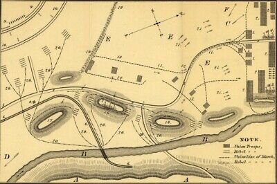 1882 map Rough plan of part of battle of Wauhatchie, Tenn., night of Oct. 28-29,