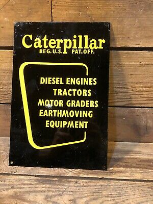 Caterpillar Tractor Engine Toy Equipment Graders Earthmoving Vintage Antique