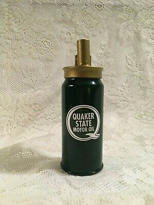 QUAKER STATE Vintage Pump OIL CAN Gasoline Station Gas Spout USA Car Sign DECAL
