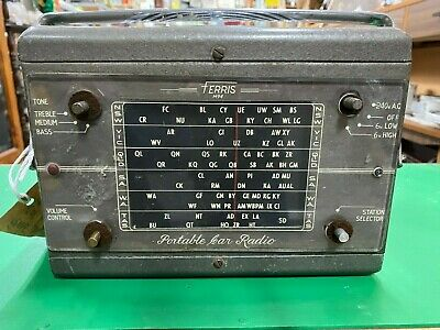 Vintage Collectable 1953 M94 Ferris portable car radio.