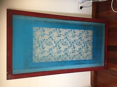 2 x Silk screens 1 x Large 1 x medium + new unused silk screen fabric