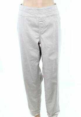 Style & Co. Womens Pants Khaki Beige Size 14W Plus Pull On Ankle Stretch $56 186