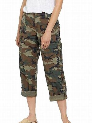 Sanctuary Womens Pants Green Size 25 Camo Print Button-Fly Stretch $50 651