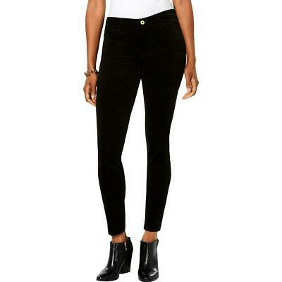 Tommy Hilfiger Womens Pants Black Size 16 Corduroys Stretch Skinny $59 374