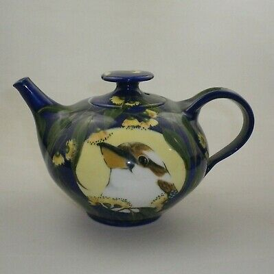 Australian Pottery Tea Pot Decorated With A Kookaburra By Julie Ford