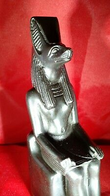 Egyptian God Anubis Statue - Seated - Made in Egypt