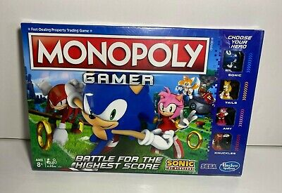 Monopoly Gamer: Sonic the Hedgehog Edition Officially Licensed E8396 NIB/Sealed