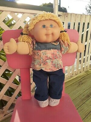 Cabbage Patch Kids CPK  Baby 2004 Play Along Retro Doll rugdoll yarn hair blonde