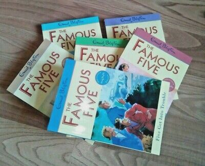 6 Enid Blyton Books 📚 The Famous Five * Over 100 Pages Per Book